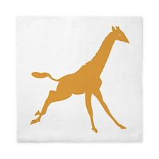 Brown Giraffe Running Queen Duvet