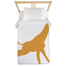 Brown Giraffe Running Twin Duvet