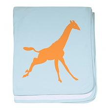 Brown Giraffe Running baby blanket