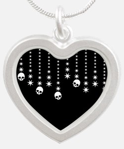 Skull Dangles Gothic Holiday Necklaces