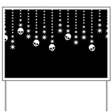 Skull Dangles Gothic Holiday Yard Sign