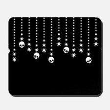 Skull Dangles Gothic Holiday Mousepad