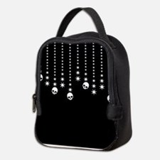 Skull Dangles Gothic Holiday Neoprene Lunch Bag