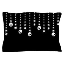 Skull Dangles Gothic Holiday Pillow Case