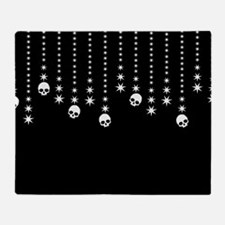 Skull Dangles Gothic Holiday Throw Blanket