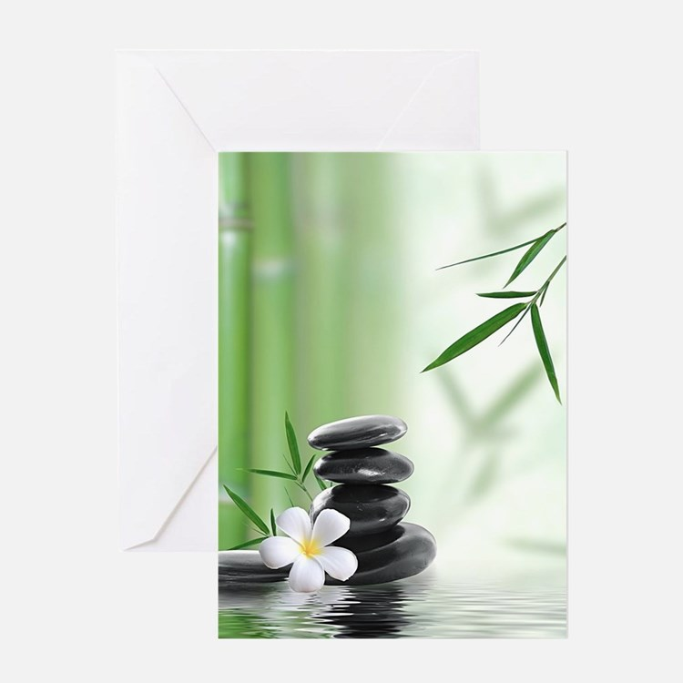 Zen Reflection Greeting Cards