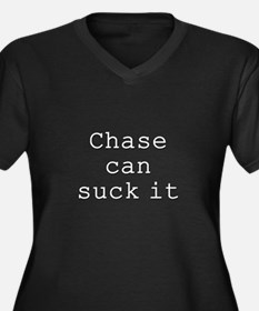 Chase Can Suck It Women's Plus Size V-Neck Dark T-