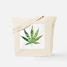Cannabis Leaf Tote Bag