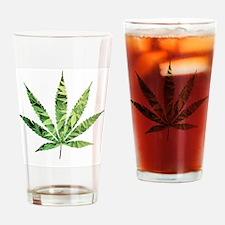 Cannabis Leaf Drinking Glass