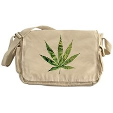Cannabis Leaf Messenger Bag