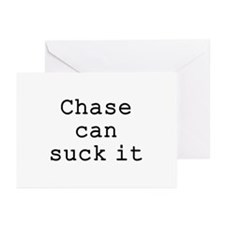 Chase Can Suck It Greeting Cards (Pk of 10)