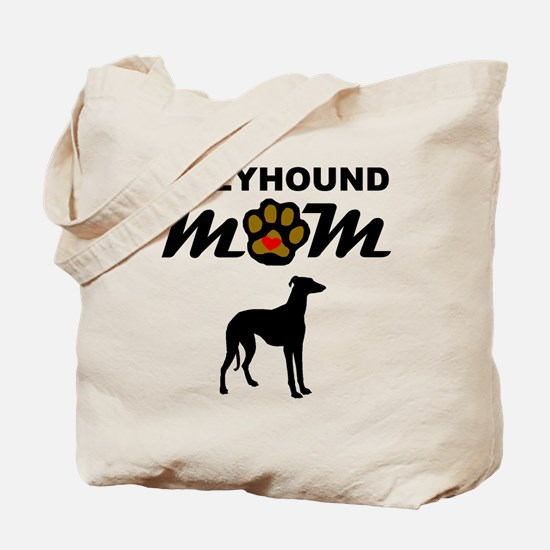 Greyhound Mom Tote Bag