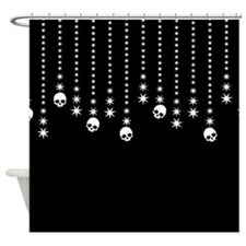Skull Dangles Gothic Holiday Shower Curtain