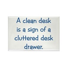 Clean Desk Rectangle Magnet