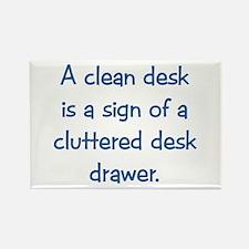 Clean Desk Rectangle Magnet