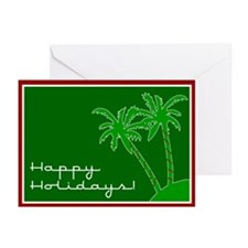 "Palm Tree ""Happy Holidays"" Christmas Cards -Pack 6"