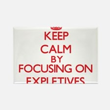 Keep Calm by focusing on EXPLETIVES Magnets