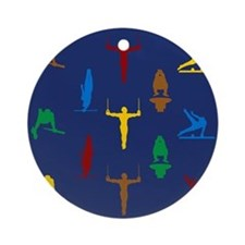 Mens Gymnastics Ornament (Round)