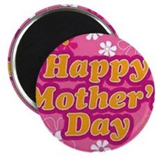 Happy Mothers Day Pink Magnets