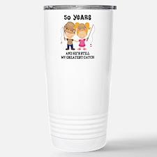 Cool 50th anniversary Travel Mug