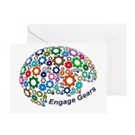 Engage Gears Greeting Cards