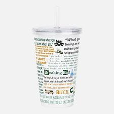 Jesse Pinkman Quotes Acrylic Double-wall Tumbler