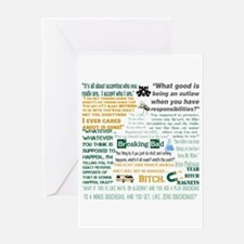 Jesse Pinkman Quotes Greeting Card