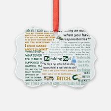 Jesse Pinkman Quotes Ornament