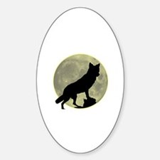 Lone Wolf Oval Decal