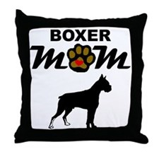 Boxer Mom Throw Pillow