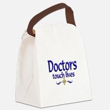 Doctors Touch Lives Canvas Lunch Bag