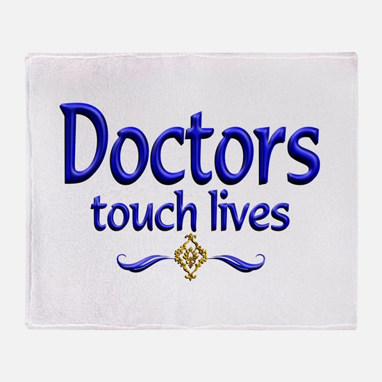Doctors Touch Lives Throw Blanket