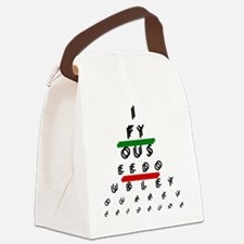 Double Vision Eye Chart Canvas Lunch Bag