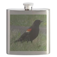 red-Winged Blackbird Lover Flask