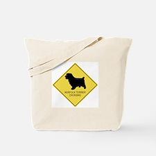 Norfolk Terrier crossing Tote Bag