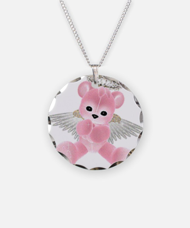 Cute Angel bear Necklace