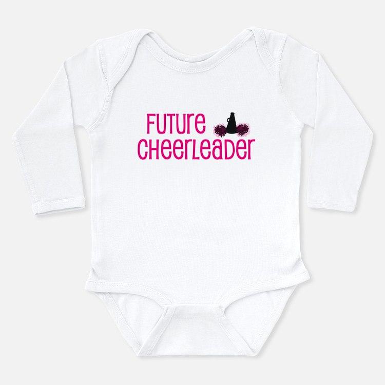 Cute Cheerleaders Long Sleeve Infant Bodysuit