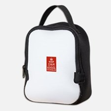 Keep Calm and Ask Your School C Neoprene Lunch Bag