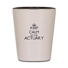 Keep calm I'm the Actuary Shot Glass