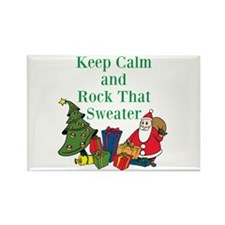 Keep Calm and Rock That Sweater Magnets
