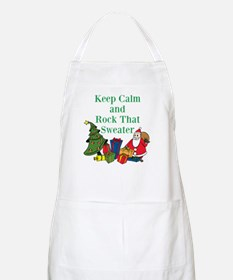 Keep Calm and Rock That Sweater Apron