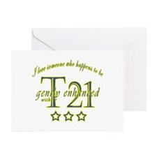 Cute Down syndrome awareness Greeting Cards (Pk of 10)