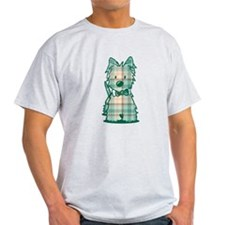 Plaid KiniArt Westie Bo T-Shirt