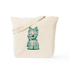 Plaid KiniArt Westie Bo Tote Bag