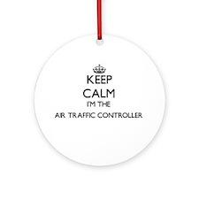 Keep calm I'm the Air Traffic Con Ornament (Round)