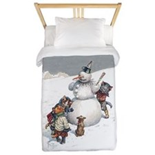 Kittens Play in The Snow Twin Duvet