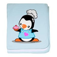 Cooking Penguin baby blanket
