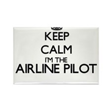 Keep calm I'm the Airline Pilot Magnets