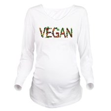 Vegan Vegetables Long Sleeve Maternity T-Shirt