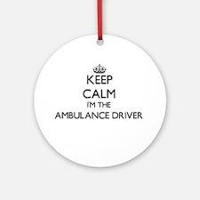 Keep calm I'm the Ambulance Drive Ornament (Round)